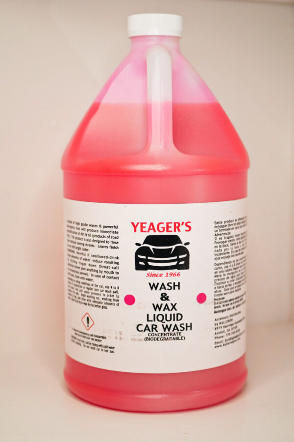 pink car wash soap with wax